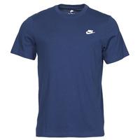 textil Herr T-shirts Nike NIKE SPORTSWEAR CLUB Blå / Vit