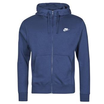 textil Herr Sweatshirts Nike NIKE SPORTSWEAR CLUB FLEECE Blå / Marin / Vit