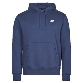 textil Herr Sweatshirts Nike NIKE SPORTSWEAR CLUB FLEECE Marin / Vit