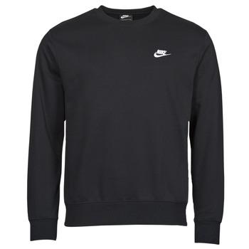 textil Herr Sweatshirts Nike NIKE SPORTSWEAR CLUB FLEECE Svart / Vit