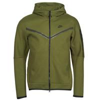 textil Herr Sweatjackets Nike NIKE SPORTSWEAR TECH FLEECE Grön / Svart