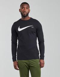 textil Herr Långärmade T-shirts Nike M NSW TEE LS GRX TEE Svart