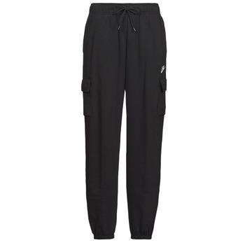 textil Dam Joggingbyxor Nike W NSW ESSNTL FLC MR CRGO PNT Svart / Vit