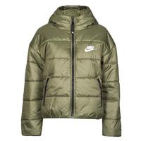 textil Dam Täckjackor Nike W NSW TF RPL CLASSIC HD JKT Kaki / Vit