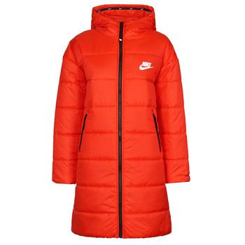 textil Dam Täckjackor Nike W NSW TF RPL CLASSIC HD PARKA Röd / Svart / Vit