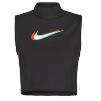 textil Dam Linnen / Ärmlösa T-shirts Nike W NSW TANK MOCK PRNT Svart