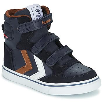 Skor Barn Höga sneakers Hummel STADIL PRO JR Blå / Brun