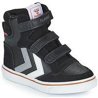 Skor Barn Höga sneakers Hummel STADIL PRO JR Svart / Grå