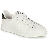 Skor Dam Sneakers Victoria TENIS PIEL Vit / Silver