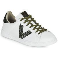 Skor Dam Sneakers Victoria TENIS PIEL Vit / Kaki