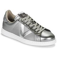 Skor Dam Sneakers Victoria TENIS METAL Silver