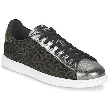 Skor Dam Sneakers Victoria TENIS LEOPARDO Kaki