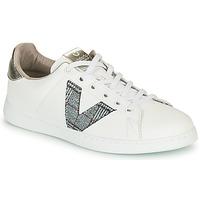 Skor Dam Sneakers Victoria TENIS PIEL VEGANA Vit / Grå