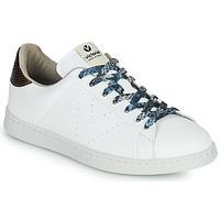 Skor Dam Sneakers Victoria TENIS VEGANO SERPIENTE Vit / Brons