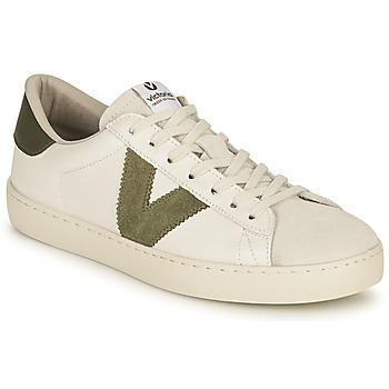 Skor Dam Sneakers Victoria BERLIN PIEL CONTRASTE Vit / Kaki