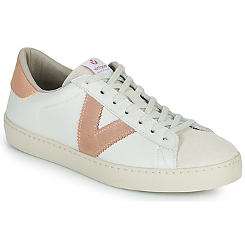 Skor Dam Sneakers Victoria BERLIN PIEL CONTRASTE Vit / Rosa