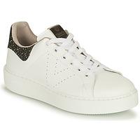 Skor Dam Sneakers Victoria UTOPIA VEGANA GLITTER Vit / Svart