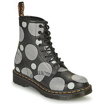 Skor Dam Boots Dr Martens 1460 Vit / Grå