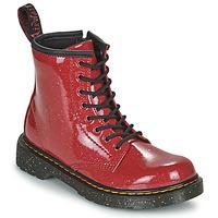 Skor Flickor Boots Dr Martens 1460 J Röd