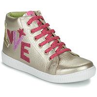 Skor Flickor Höga sneakers Agatha Ruiz de la Prada FLOW Beige / Rosa