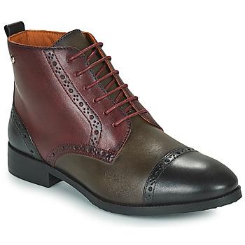 Skor Dam Boots Pikolinos ROYAL Bordeaux / Svart / Brun