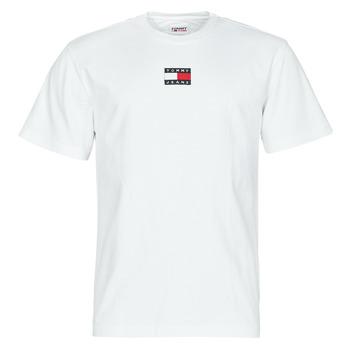 textil Herr T-shirts Tommy Jeans TJM TOMMY BADGE TEE Vit
