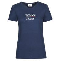 textil Dam T-shirts Tommy Jeans TJW SKINNY ESSENTIAL TOMMY T SS Marin