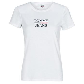 textil Dam T-shirts Tommy Jeans TJW SKINNY ESSENTIAL TOMMY T SS Vit