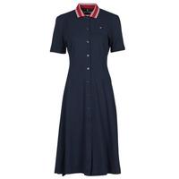 textil Dam Korta klänningar Tommy Hilfiger PIQUE F&F MIDI POLO DRESS SS Marin