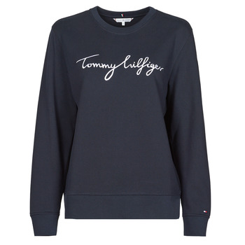 textil Dam Sweatshirts Tommy Hilfiger REGULAR GRAPHIC C-NK SWEATSHIRT Marin