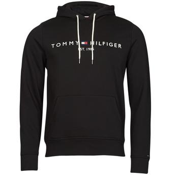 textil Herr Sweatshirts Tommy Hilfiger TOMMY LOGO HOODY Svart