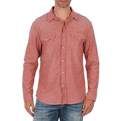 textil Herr Långärmade skjortor Selected Doha shirt ls r J Röd