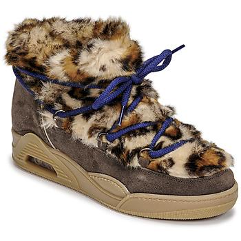 Skor Dam Boots Serafini MOON LOW Leopard