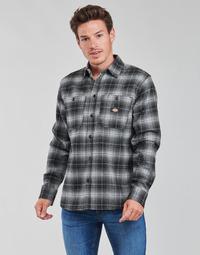 textil Herr Långärmade skjortor Dickies EVANSVILLE LS Svart