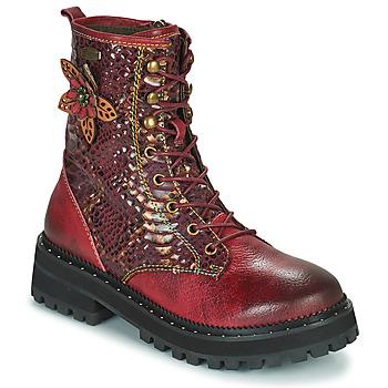 Skor Dam Boots Laura Vita IACNISO Bordeaux / Violett