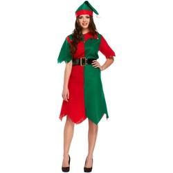 textil Dam Korta klänningar Christmas Shop CS086 Grön/Röd