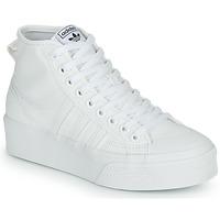 Skor Dam Höga sneakers adidas Originals NIZZA PLATFORM MID Vit