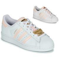 Skor Dam Sneakers adidas Originals SUPERSTAR W Vit / Rosa