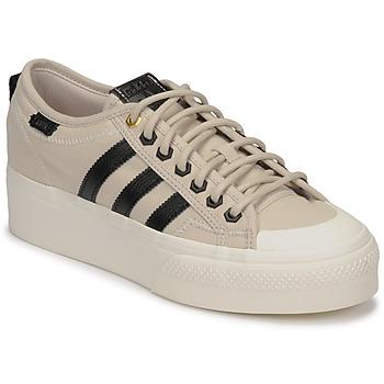 Skor Dam Sneakers adidas Originals NIZZA PLATFORM W Beige / Svart