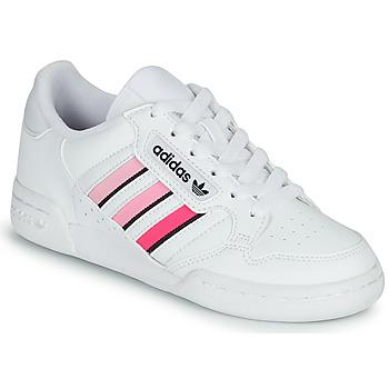Skor Flickor Sneakers adidas Originals CONTINENTAL 80 STRI J Vit / Rosa