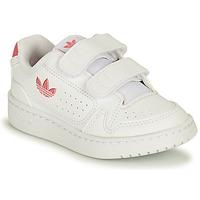 Skor Flickor Sneakers adidas Originals NY 90 CF I Vit / Rosa