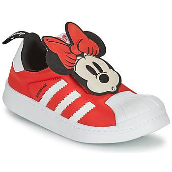Skor Flickor Sneakers adidas Originals SUPERSTAR 360 C Röd / Minnie