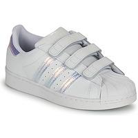 Skor Barn Sneakers adidas Originals SUPERSTAR CF C Vit / Silverfärgad