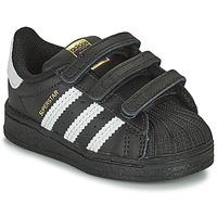 Skor Barn Sneakers adidas Originals SUPERSTAR CF I Svart / Vit