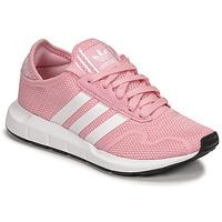 Skor Flickor Sneakers adidas Originals SWIFT RUN X J Rosa / Vit