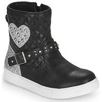 Skor Flickor Boots Primigi B&G LUX Svart / Silver