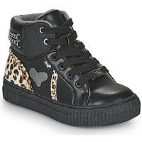 Skor Flickor Höga sneakers Primigi GIRL ALPHA Svart / Leopard