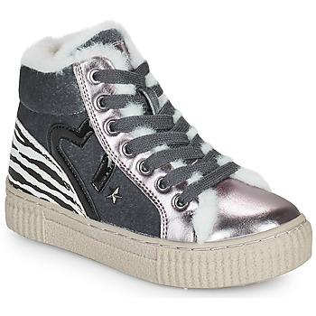 Skor Flickor Höga sneakers Primigi GIRL ALPHA Silver