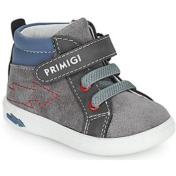 Skor Pojkar Höga sneakers Primigi BABY LIKE Grå / Blå