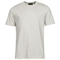 textil Herr T-shirts Scotch & Soda GRAPHIC LOGO Grå